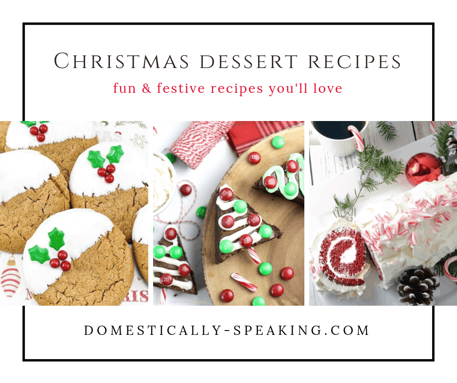 Fun and Festive Christmas Dessert Recipes that are perfect for the holidays! Cakes, pies, bark, brownies and more!
