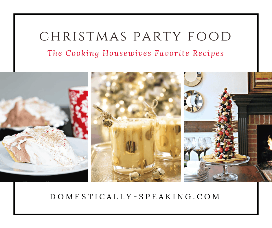 Christmas Party Food Recipes that are perfect for the holidays! Party appetizers, desserts, cookies and more!