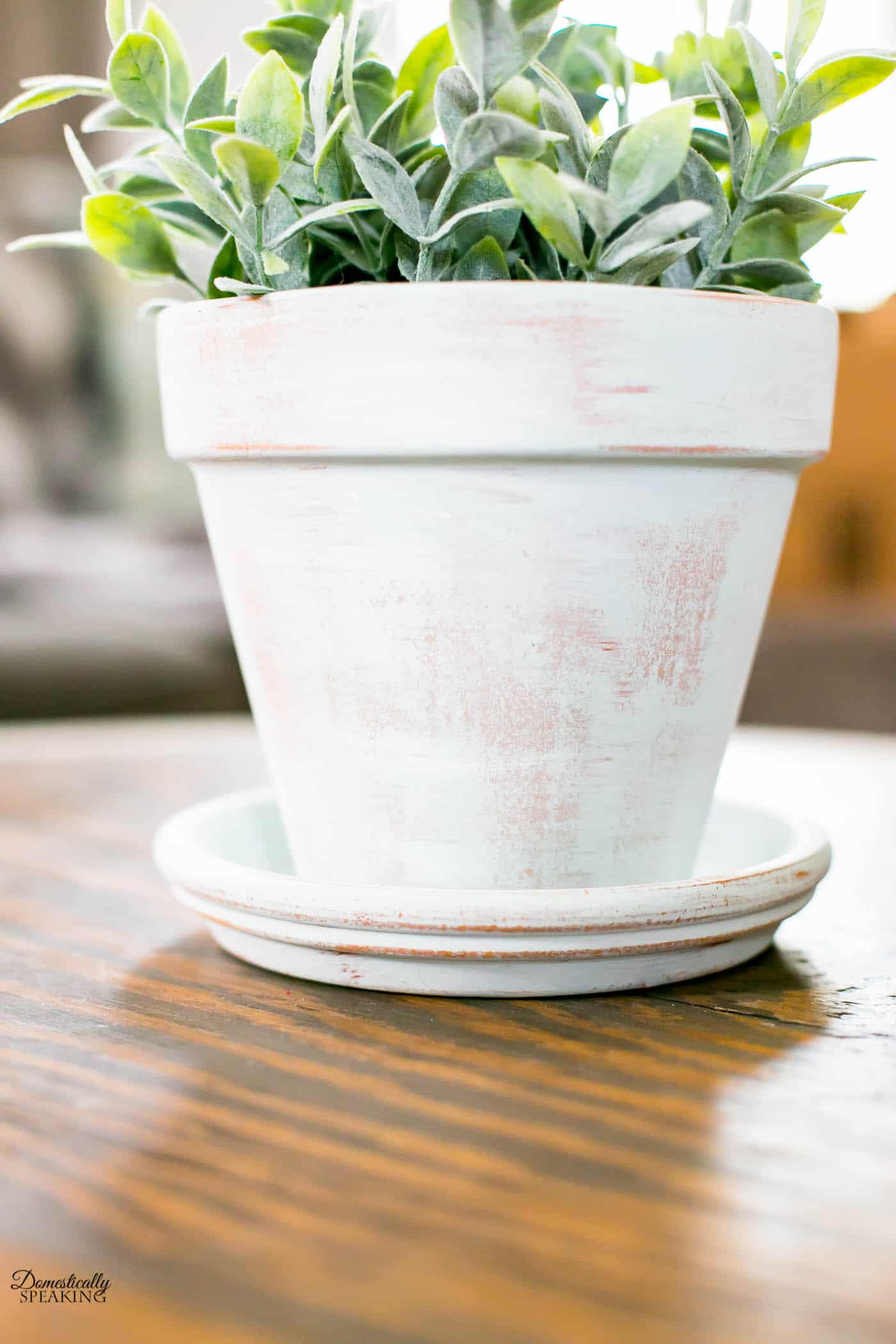 Get that aged terracotta pot look using this paint technique.