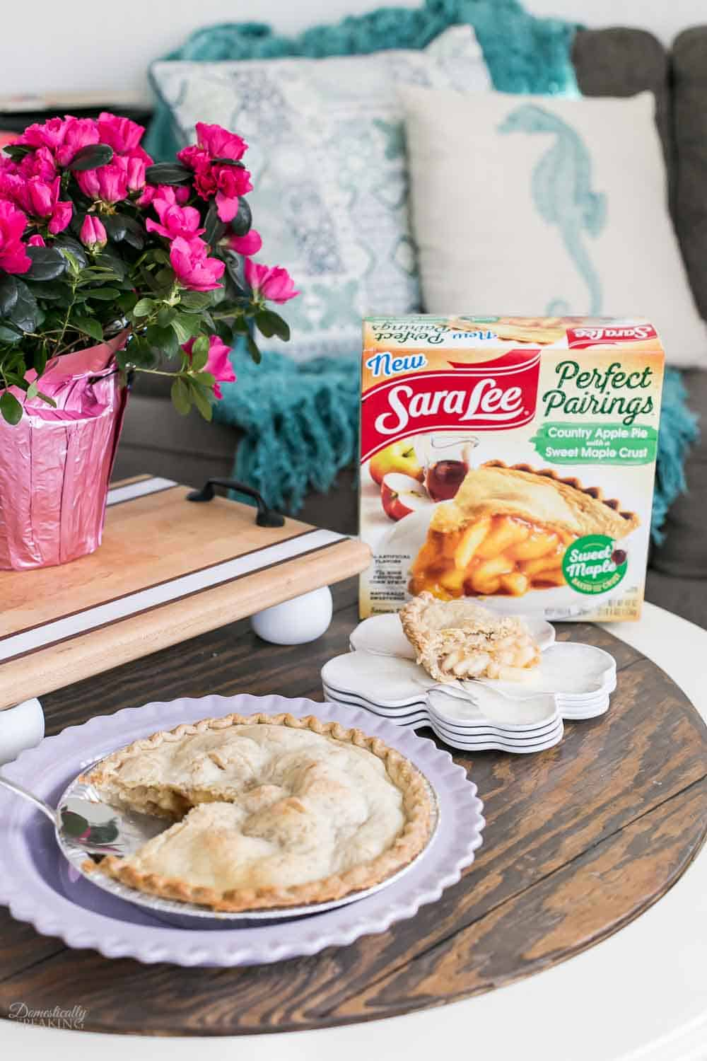 Country Apple Pie with Maple Crust is perfect idea for an easy Mother's Day.