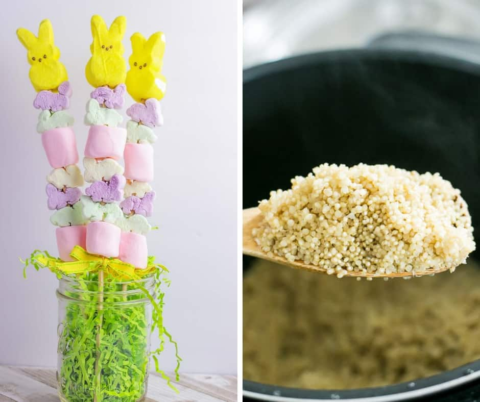 Easter Peeps Marshmallow Kabobs and Instant Pot Quinoa