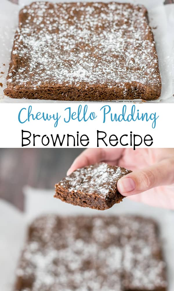Chewy Jello Pudding Brownies!!!