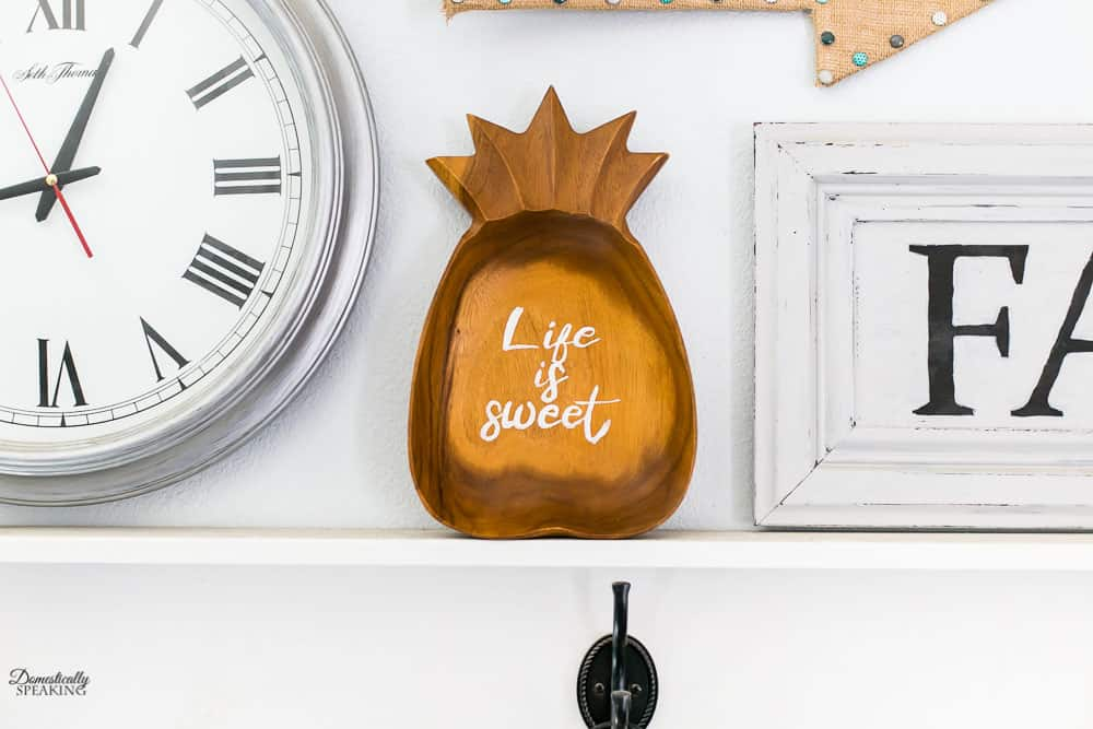 Wood Pineapple Life is Sweet Sign