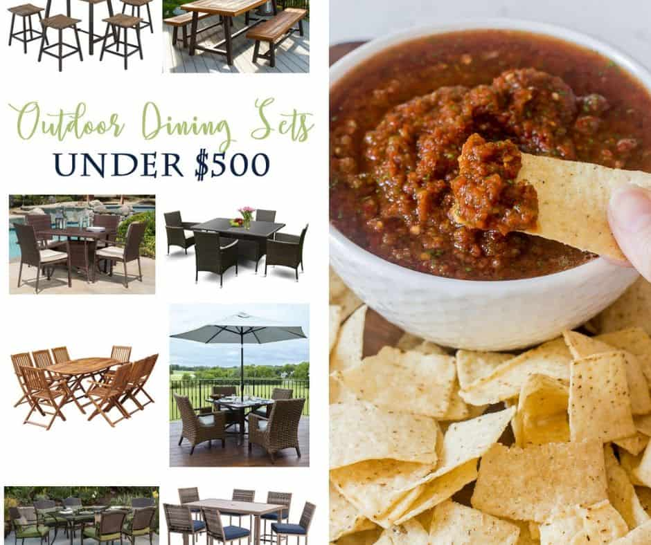 Outdoor Patio Sets and Chipotle Salsa