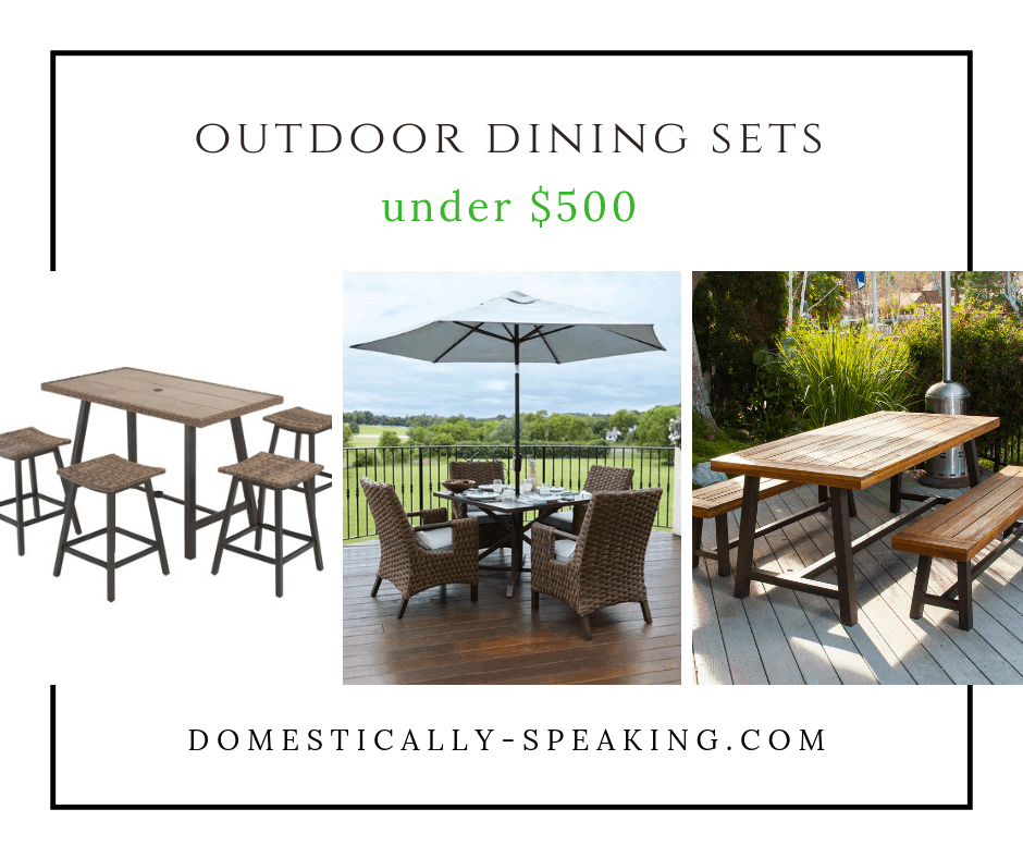 Outdoor Dining Sets that are under $500 - cute and functional.