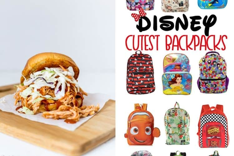 Pulled BBQ Chicken Sandwich and Disney Backpacks