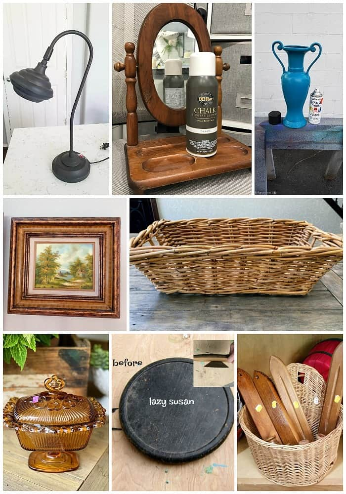 Awesome thrift store finds and how they were made over.