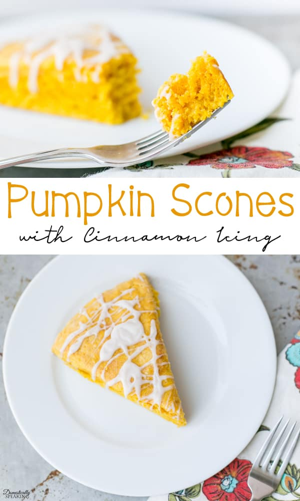 Flavor packed Pumpkin Scones with Cinnamon Icing - so full of fall flavor!
