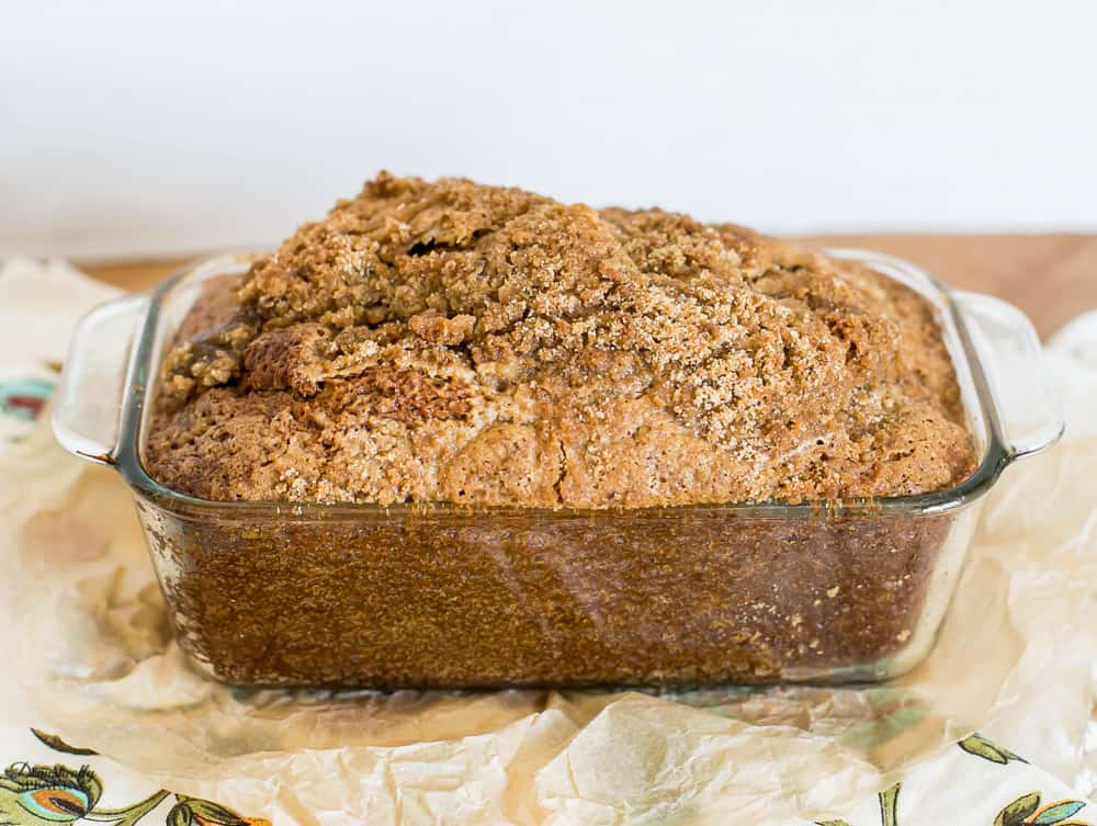Spiced Pumpkin Bread with Streusel Topping