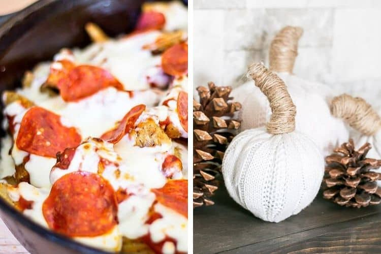 Pizza Fries and Cable Knit Sweater Pumpkins