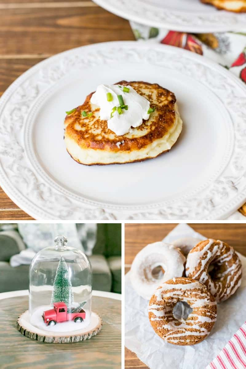 Potato Cakes, Vintage Christmas Cloche, Cake Mix Gingerbread Donuts