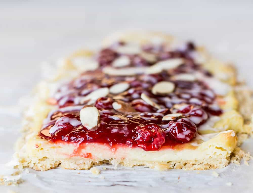 Easy to make Almond Cherry Pastry that's perfect for brunch.