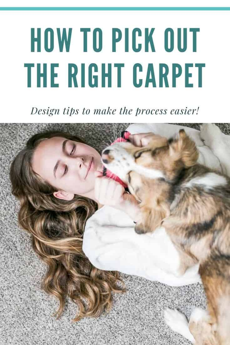 How to Pick Out the Right Carpet for your home... tips to make the selection process easier.