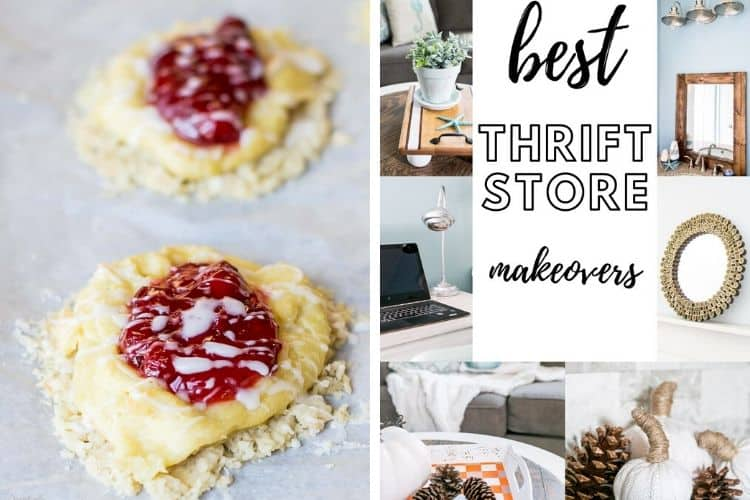 Cherry Almond Pastry and The Best Thrift Store Makeovers