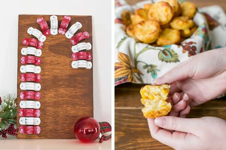 Clamp Candy Cane and Corn Casserole Bites